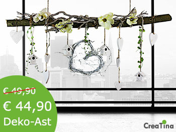 deko tischdeko und mehr online kaufen bei creatina deko. Black Bedroom Furniture Sets. Home Design Ideas
