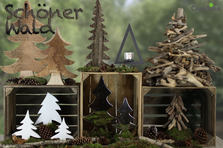 creatina sch ner wald weihnachten ohne weihnachtsbaum. Black Bedroom Furniture Sets. Home Design Ideas