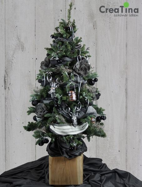 designer weihnachtsbaum black bambi exklusiv dekoriert. Black Bedroom Furniture Sets. Home Design Ideas