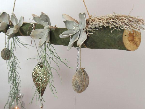 creatina ast aus buchenholz zum aufh ngen mit glasornament zapfen 118 cm lang. Black Bedroom Furniture Sets. Home Design Ideas