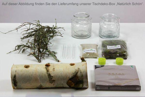 """CreaTina. Tischdeko-Box Birke als Set, """"Natürlich Schön"""" für 8-10 ..."""