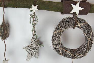 creatina deko ast aus echter buche in der limitierten weihnachtsedition. Black Bedroom Furniture Sets. Home Design Ideas