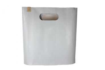 Shopping Bag als stylisches Dekoelement aus Gummi in Beton Optik in steingrau 56 cm hoch