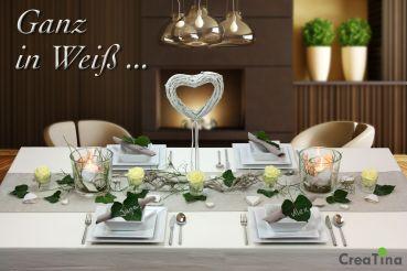 Creatina Tischdeko Box Hochzeit Als Set Ganz In Weiss Fur 8 10