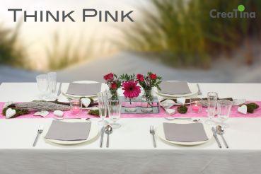 Creatina Tischdeko Box Als Set Think Pink Mit Vasenset Im