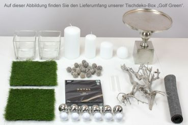 Tischdeko-Box als Set Golf Green