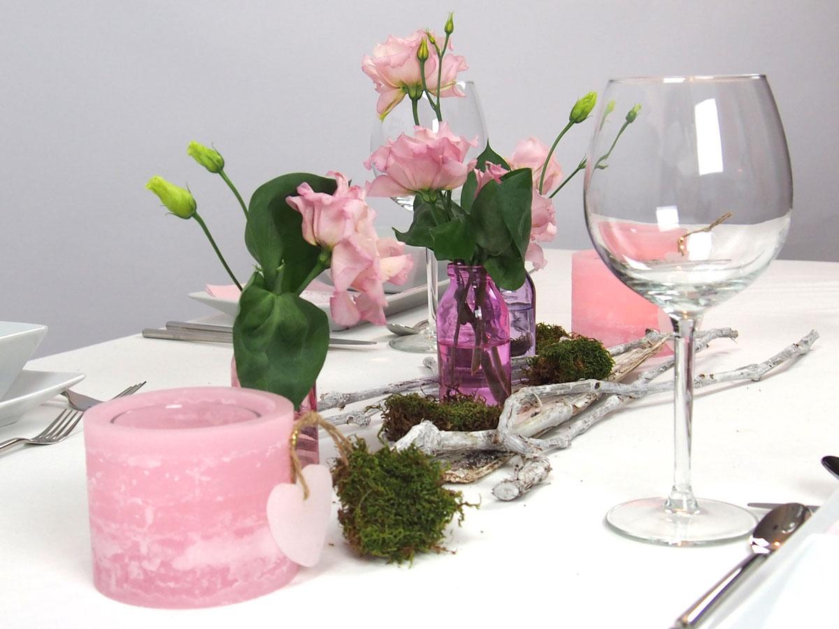 Creatina Tischdeko Box Pink Als Set Leise T Ne F R 8
