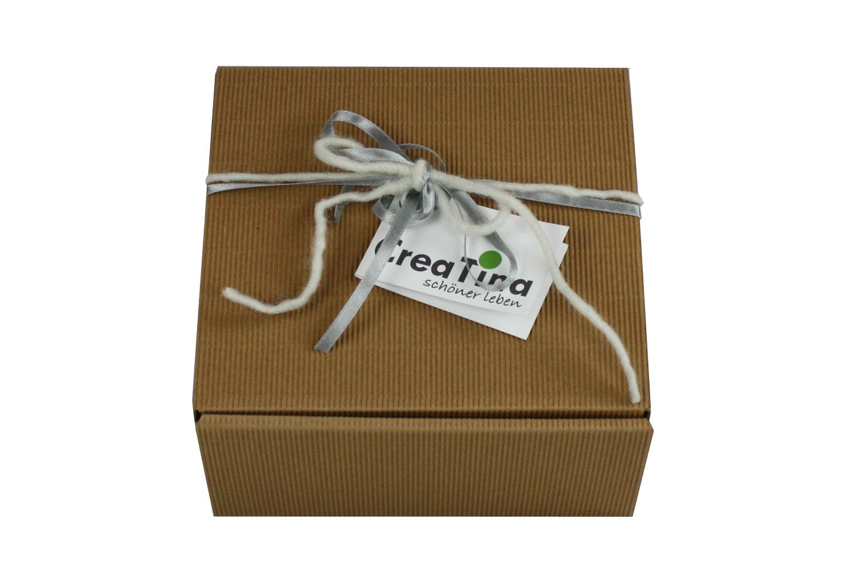 Creatina geschenkbox dekoriert mit vier original weck for Deckel weckglas