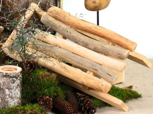 Creatina schlitten aus treibholz natur 50 x 24 x 10 cm gro - Weihnachtsdeko treibholz ...
