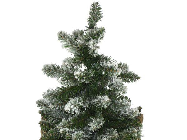 creatina k nstlicher weihnachtsbaum im weidenkorb mit holzknopf im set. Black Bedroom Furniture Sets. Home Design Ideas