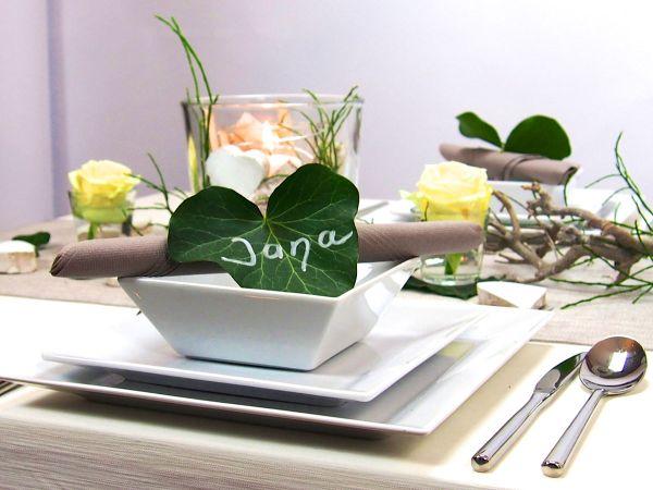Tischdeko hochzeit naturlook  CreaTina. Tischdeko-Box Hochzeit als Set,