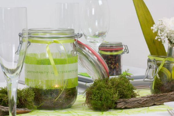 creatina tischdeko box als set verde mit gastgeschenke f r 4 personen mit dekoanleitung. Black Bedroom Furniture Sets. Home Design Ideas
