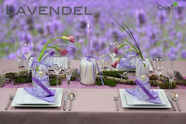 Creatina tischdeko box als set lavendel f r 4 personen for Lavendel tischdeko