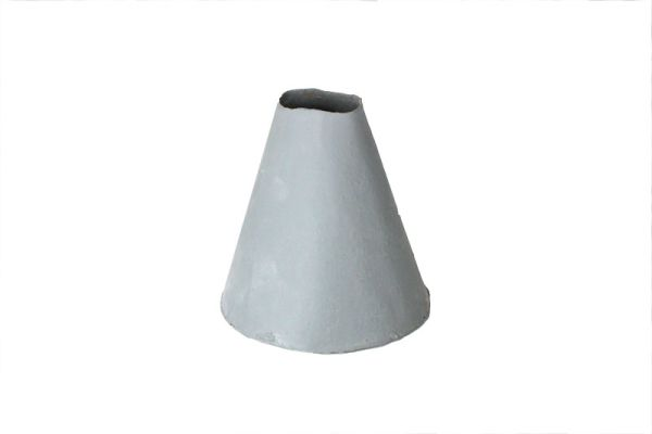 Vase Conical aus Gummi in der Farbe steingrau in Beton Optik 13 cm hoch