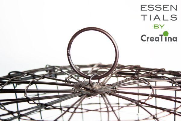 creatina metallkorb mit glasvase 2 teilig zum hinstellen. Black Bedroom Furniture Sets. Home Design Ideas