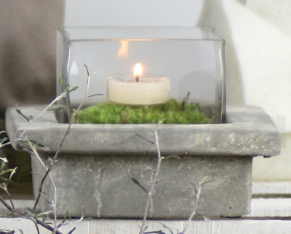 windlicht aus beton betondiy windlichter und eierbecher aus beton das bild wird geladen. Black Bedroom Furniture Sets. Home Design Ideas