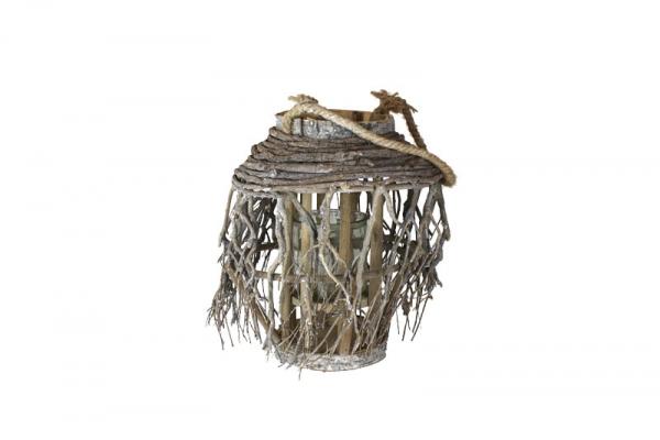 creatina windlicht mit glaszylinder mit sten verkleidet an einer kordel. Black Bedroom Furniture Sets. Home Design Ideas